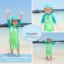 ชุดว่ายน้ำเด็กผู้ชาย บอดี้สูท ลายไดโนเสาร์ สีเขียว แขนยาว พร้อมหมวก thumbnail 3