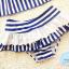 ชุดว่ายน้ำทูพีช ลายทาง ขาว-น้ำเงิน / ขาว-ชมพู + ผ้าคาดผม thumbnail 8