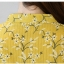 Pre-order เสื้อทำงาน โทนสีเหลือง พิมพ์ลายดอกไม้เล็กๆน่ารัก thumbnail 12