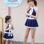 ชุดว่ายน้ำเด็กผู้หญิงสีน้ำเงินเข้ม ขาว พร้อมหมวก (มีคู่ แม่-ลูก ด้วยค่ะ จะซื้อเดี่ยว หรือซื้อคู่ ก็ได้ค่ะ) thumbnail 3