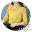 Pre-order เสื้อทำงาน โทนสีเหลือง พิมพ์ลายดอกไม้เล็กๆน่ารัก thumbnail 8