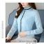 Pre-order เสื้อทำงาน สีฟ้า คอระบายสวยหวาน แต่งมุกเรียงด้านหน้าไม่ซ้ำใคร thumbnail 2
