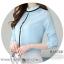 Pre-order เสื้อทำงาน สีฟ้า คอระบายสวยหวาน แต่งมุกเรียงด้านหน้าไม่ซ้ำใคร thumbnail 8