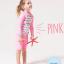 ชุดว่ายน้ำเด็กหญิงเสื้อแขนยาว กางเกงขาสั้น สีชมพู-ขาว ลาย Enjoy Summer thumbnail 1