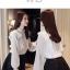 Pre-order เสื้อทำงาน สีขาว แต่งระบายสวยหวาน เนื้อผ้าซีฟองใส่สบาย ระบายอากาศได้ดี thumbnail 4
