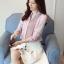 Pre-order เสื้อทำงาน สีเทาอมชมพู คอจีน จับจีบด้านหน้าสวยเก๋ thumbnail 4