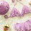 ชุดว่ายน้ำเด็ก บิกินี่ สีม่วง น่ารัก พรุ้งพริ้ง พร้อมหมวก thumbnail 1