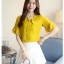 Preorder เสื้อทำงาน สีเหลืองขมิ้น คอผูกโบว์ แขนแต่งระบายสองชั้นสวยหรู thumbnail 11