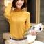 Preorder เสื้อทำงาน สีเหลืองขมิ้น คอตั้ง แขนแต่งระบายสวย จับจีบด้านหน้าสวยงาม thumbnail 6