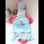 ชุดว่ายน้ำเด็กเล็กผู้หญิงสีฟ้าชมพู เสื้อแขนสั้น กางเกงคลุมระบาย พร้อมหมวก thumbnail 1
