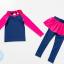 ชุดว่ายน้ำเด็กผู้หญิง แขนยาว ขายาว แยกส่วนเสื้อ กางเกง สีชมพู น้ำเงินเข้ม thumbnail 4