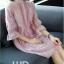 Pre-order ชุดทำงาน สีชมพู กระดุมเรียง ทรงปล่อย ปักลายในเนื้อผ้าสวยหวานสุดๆ thumbnail 2