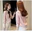 Preorder เสื้อทำงาน สีชมพู คอผูกโบว์สวย แขนแต่งระบายน่ารัก เนื้อผ้าระบายอากาศได้ดี thumbnail 5