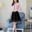 Pre-order เสื้อทำงาน สีชมพู คอระบายสวยหวาน แต่งมุกเรียงด้านหน้าไม่ซ้ำใคร thumbnail 5