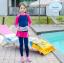 ชุดว่ายน้ำเด็กผู้หญิง แขนยาว ขายาว แยกส่วนเสื้อ กางเกง สีชมพู น้ำเงินเข้ม thumbnail 1