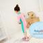 ชุดว่ายน้ำบอดี้สูทเด็กผู้หญิง ซิปหน้า สีชมพูเขียว thumbnail 2