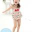 ชุดว่ายน้ำเด็กผู้หญิงวันพีช พื้นสีครีม ลายดอกไม้ หร้อมหมวก thumbnail 1