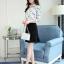 Pre-order เสื้อทำงาน สีขาว คอปก พิมพ์ลายดาวสวยสไตล์เกาหลี thumbnail 5
