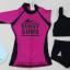 ชุดว่ายน้ำผู้ใหญ่ ผู้หญิง คุณแม่ แขนยาว ขาสั้น รุ่น Bunny Bums สีชมพู-ดำ (เสื้อตัวนอก+เสื้อตัวใน+กางเกงขาสั้น ) thumbnail 3