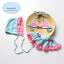 ชุดว่ายน้ำเด็กผู้หญิงทูพีช สีฟ้าชมพู พร้อมหมวก thumbnail 1