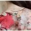 Preorder เสื้อทำงาน สีแดง คอวี แขนระบาย ตัวเสื้อพิมพ์ลายดอกไม้สวยๆ thumbnail 9