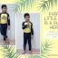 ชุดว่ายน้ำเด็กผู้ชาย เสื้อแขนยาว กางเกงขายาว The Little Prince สีเหลือง-น้ำเงินเข้ม เอวผูกเชือก ปรับขนาดได้ thumbnail 4
