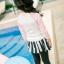 ชุดว่ายน้ำเด็กหญิง เสื้อแขนยาวสีขาวชมพู กางเกงคลุมเข่าสีดำ มีระบายกระโปรงเป็นชั้นๆ thumbnail 4