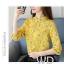 Pre-order เสื้อทำงาน โทนสีเหลือง พิมพ์ลายดอกไม้เล็กๆน่ารัก thumbnail 1