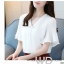 Preorder เสื้อทำงาน สีขาว คอวีแต่งมุกช่วงอก แขนระบาย thumbnail 1