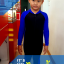ชุดว่ายน้ำบอดีสูท เด็กผู้ชาย แขนยาว ขายาว สีน้ำเงิน-ดำ thumbnail 3