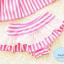 ชุดว่ายน้ำทูพีช ลายทาง ขาว-น้ำเงิน / ขาว-ชมพู + ผ้าคาดผม thumbnail 5