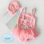 ชุดว่ายน้ำเด็กหญิง สีชมพู ลาย Peppa พร้อมหมวก thumbnail 1