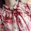 Pre-order เสื้อทำงาน สีขาวโทนแดง แต่งระบายไร่ระดับช่วงอกสวยหรูสุดๆ thumbnail 9