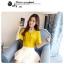Preorder เสื้อทำงาน สีเหลืองขมิ้น คอผูกโบว์ แขนแต่งระบายสองชั้นสวยหรู thumbnail 9