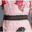Preorder ชุดทำงาน สีชมพู คอกลมแขนห้าส่วน คาดเอวเก๋ไก๋ เนื้อผ้าลูกไม้ปักลายดอกไม้สวยหวาน thumbnail 8