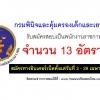 กรมพินิจและคุ้มครองเด็กและเยาวชน เปิดสอบพนักงานราชการ จำนวน 13 อัตราวันที่ 3 - 29 เมษายน 2561