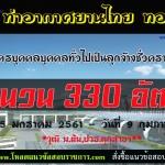 เปิดสอบท่าอากาศยานไทย (AOT) รับสมัครบุคคลบุคคลทั่วไปเป็นลุกจ้างชั่วคราวของ ทอท วันที่ 15 มกราคม 2561 – วันที่ 9 กุมภาพันธ์ 2561