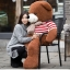ตุ๊กตาหมีตัวอ้วน เสื้อลาย ขนาด 1 m. thumbnail 3