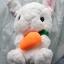 ตุ๊กตากระต่ายน้อยหูยาว สีขาว 40 cm. thumbnail 2