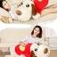 ตุ๊กตาสุนัข หมอนข้าง เสื้อสีแดงลายหัวใจ ขนา่ด 1.2 m. ***Pre-Order thumbnail 5