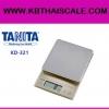 ตาชั่งดิจิตอล เครื่องชั่งดิจิตอล เครื่องชั่งแบบตั้งโต๊ะ รุ่น KD-321 ยี่ห้อ TANITA พิกัดน้ำหนัก 1500กรัม ค่าละเอียด 0.5กรัม