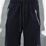 กางเกงกีฬาขาสั้น กระเป๋าซิป สีกรมท่า-ดำ Size S