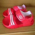 รองเท้ายางรัดสั้น สีแดง