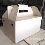 กล่องใส่เมล่อนคู่ XL ไม่พิมพ์ลาย ขนาด 40x25x20 cm พร้อมฐานรองลูก