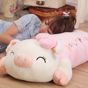 ตุ๊กตาหมูน้อยหมอนข้างน่ารักๆ สีชมพู ขนาด 100 CM. (***Pre-Order)