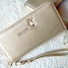 กระเป๋าสตางค์ซิปรอบสีทอง GENUINE LEATHER