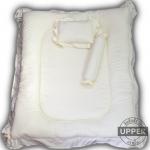 ที่นอนเด็กแรกเกิดแบบหลุมตกกลาง ลายพื้นสีขาว