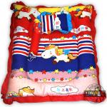 ที่นอนเด็กแรกเกิดแบบหลุมตกกลาง ลายม้าหางทอง