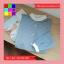 เสื้อแฟชั่น คอกลม กระดุมหน้า แขนยาว ลายทาง สีฟ้า thumbnail 3