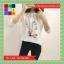 เสื้อแฟชั่น คอกลม แขนยาว ลายการ์ตูน สีขาว thumbnail 5